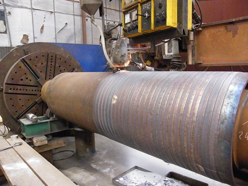 Rechargement dur (45-HRC) sur cylindre